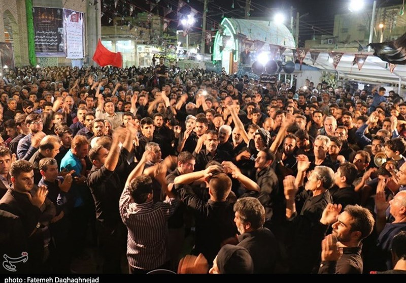 خوزستان| پرچم عزای امام حسین (ع) بر گنبد آستان سبزقبا(ع) به اهتزاز درآمد+تصاویر