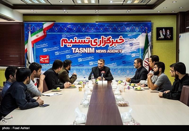 حضور حسین امیر عبداللهیان در خبرگزاری تسنیم
