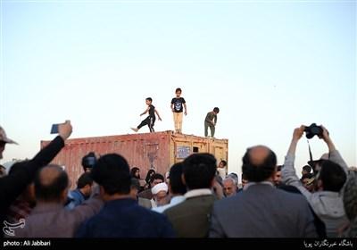 مراسم بازدید از قلعه سیمون و افتتاح کارگاه اقتصاد مقاومتی و کلنگ زنی روستای لهک