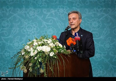 سخنرانی محمود نیلی احمدآبادی رئیس دانشگاه تهران در مراسم تودیع و معارفه رئیس نهاد نمایندگی مقام معظم رهبری در دانشگاهها
