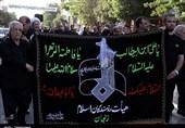 برپایی دسته عزاداری هیئت رزمندگان اسلام در زنجان به روایت تصویر