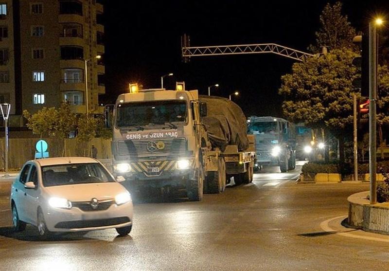 انتقال سنگین نفرات و مهمات نظامی ترکیه به مرز ادلب