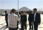 حضور رئیس مرکز مطالعات امنیت ملی ستاد کل نیروهای مسلح در اردوی جهادی