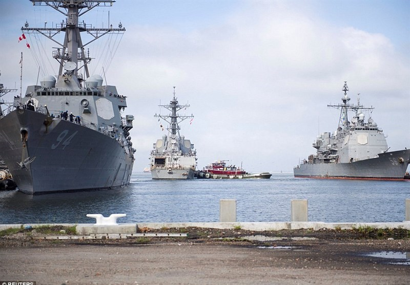 The US military said it was sending an advance team to Raleigh, North Carolina, to coordinate with federal and state partners. The US Navy also ordered 30 warships out to sea from their port at Naval Station Norfolk in Virginia