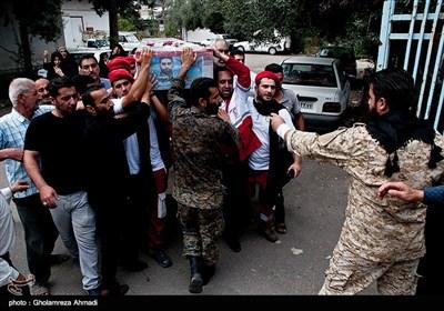 مراسم تشییع پیکر شهید مدافع حرم سید سجاد خلیلی