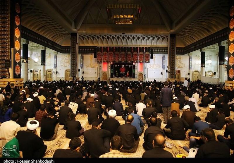 برگزاری مراسم عزاداری در حرم حضرت معصومه(س) به روایت تصویر