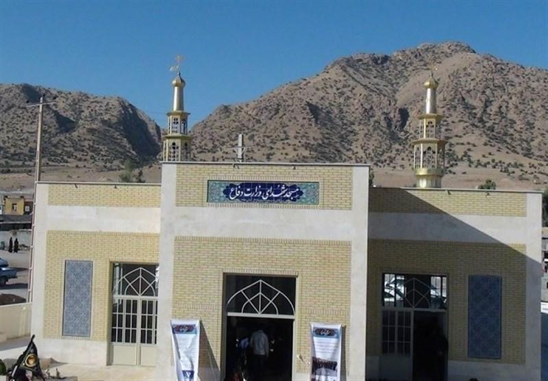 مسجد اهدایی کارکنان وزارت دفاع در مناطق زلزلهزده کرمانشاه به بهرهبرداری رسید + تصاویر