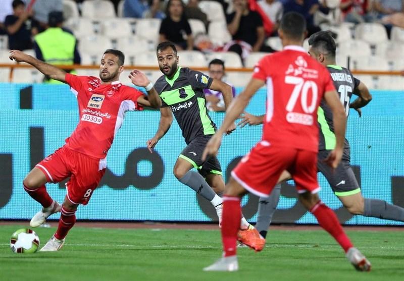 لیگ برتر فوتبال| تساوی یک نیمهای پرسپولیس و نساجی