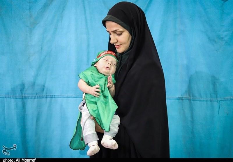 مراسم معنوی شیرخوارگان حسینی در اهواز به روایت تصویر