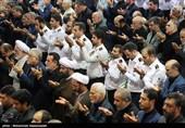 نماز ظهر تاسوعا در استان آذربایجان شرقی در زیر باران اقامه شد