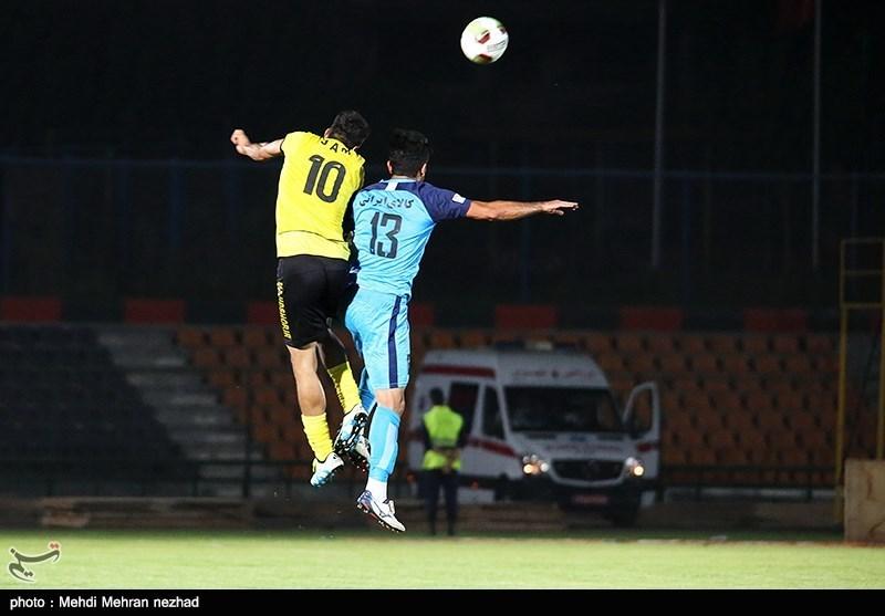 لیگ برتر فوتبال|برتری پیکان مقابل پارسجنوبی در نیمه اول