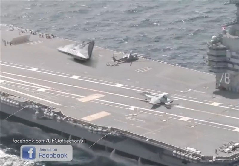 UFO-Like Object Spotted Aboard US Aircraft Carrier (+Video)