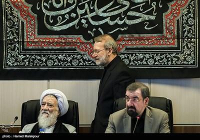 ورود علی لاریجانی رئیس مجلس شورای اسلامی به جلسه مجمع تشخیص مصلحت نظام