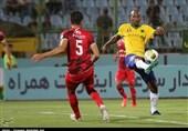لیگ برتر فوتبال  برتری صنعت نفت آبادان مقابل نساجی مازندران در 45 دقیقه اول