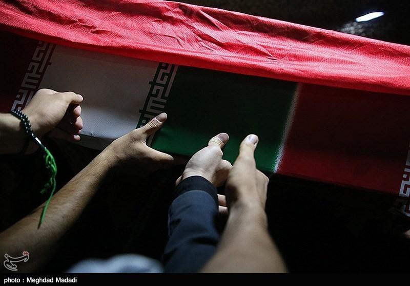 وداع با پیکر شهید مدافع حرم اصغر الیاسی