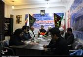 دفتر تسنیم گلستان مزین به پرچم مقدس عزای ابا عبدالله الحسین (ع) شد+تصاویر
