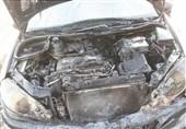 آتش گرفتن موتور پژو 206 در بزرگراه آزادگان + تصاویر