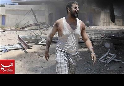 غزہ پر اسرائیلی حملے کے مناظر