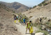 تشکلهای مردمی استان فارس مناطق گردشگری کهگیلویه و بویراحمد را پاکسازی کردند+تصاویر