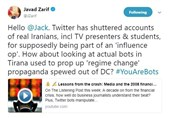 Zarif Slams Twitter's Move to Remove Accounts of Iranians