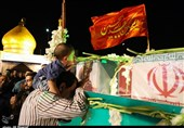 وداع مردم اهواز با علیاکبرهای گمنام خمینی(ره) در یادمان بینالحرمین+ فیلم