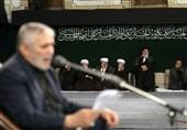 اولین شب مراسم عزاداری در حسینیه امام خمینی(ره) با حضور رهبر انقلاب+ عکس و فیلم