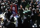 تهران| مردم شهریار با رایحه عاشورایی پیکر شهید غواص را تشییع کردند+فیلم