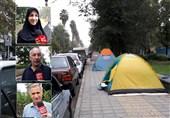 """""""مسافران چادرنشین"""" مهمانان ناخوانده معابر گیلان+فیلم"""