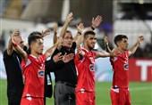 حاشیه دیدار پرسپولیس- الدحیل|بهت بازیکنان الدحیل و شادی مشترک بازیکنان پرسپولیس و هواداران