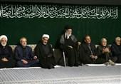 اقامة مراسم اللیلة الثانیة لعزاء سید الشهداء ابی عبد الحسین (ع ) بحضور قائد الثورة