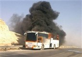 آتش گرفتن اتوبوس در جاده دیواندره ـ سنندج