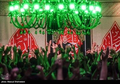 عزاداری شب هشتم محرم در هیأت موج الحسین