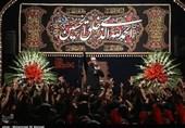 مراسم عزاداری در حسینیه شهدا قم به روایت تصویر