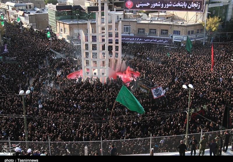 اجتماع بینظیر عاشقان حسینی در یومالعباس؛ پایتخت شور و شعور حسینی علم عباس برداشت + فیلم