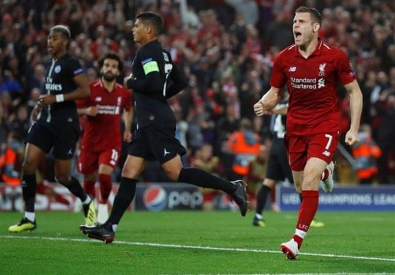 فوتبال جهان  لیورپول در آخرین ثانیهها مچ پاریسنژرمن را خواباند/ ناپولی در خانه قهرمان سابق اروپا به تساوی رضایت داد