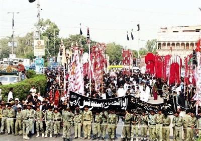 پاکستان بھر میں 9 محرم الحرام کے جلوس روایتی راستوں سے گزر کر اختتام پذیر