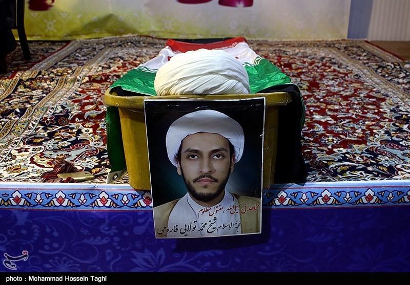 تشییع پیکر طلبه مضروب مشهدی همزمان با تاسوعای حسینی+تصاویر