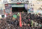 آئین دیرینه نخل گردانی محله جهادیه سمنان در تاسوعای حسینی+فیلم