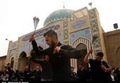 عزاداری روز تاسوعا در امامزاده سید معصوم(ع) قم به روایت تصویر