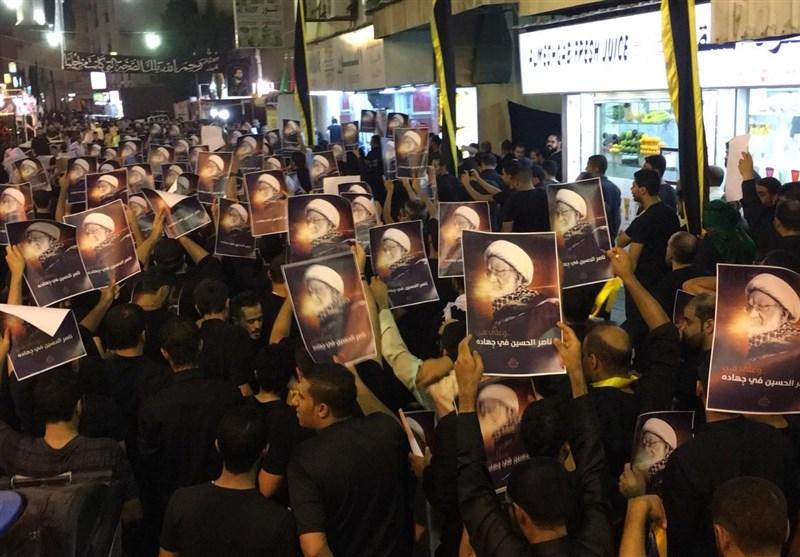 بحرین|راهپیمایی و اقامه نماز بحرینیها در شب عاشورا + تصاویر