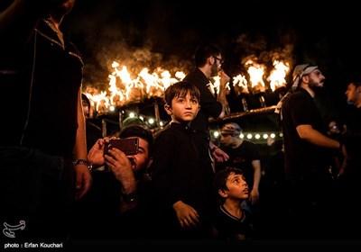 آئین مشعل گردانی در دولت آباد شهر ری
