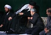 بوسه رهبر معظم انقلاب بر سر سردار سلیمانی+ عکس