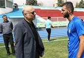 حضور مدیرعامل باشگاه استقلال در تمرینات آبیپوشان