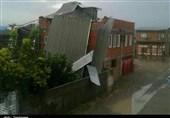 خسارت طوفان در 5 شهرستان استان گلستان؛ 62 خانوار آسیب دیدند+تصاویر