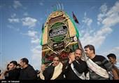نخلهایی که به یاد سید و سالار شهیدان به حرکت درمیآیند؛ سنت 200 ساله عزاداری جاجرمیها+فیلم
