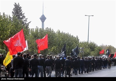 عزاداری تاسوعای حسینی در غرب تهران