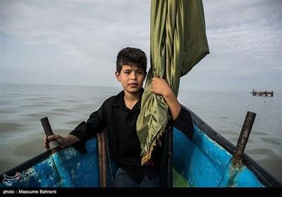 عزاداری تاسوعای حسینی در جزیره آشوراده