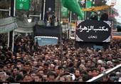 زنجان| گوشهای از عزاداری مردم پایتخت شور و شعور حسینی در روز عاشورا+فیلم