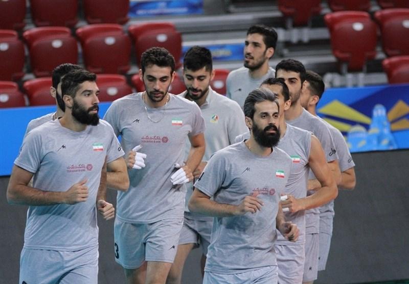 گزارش خبرنگار اعزامی تسنیم از بلغارستان  بازیکنان تیم ملی والیبال در سالن اصلی تمرین کردند