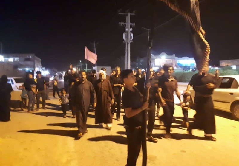 خوزستان| مراسم شام غریبان در بندر هندیجان برگزار شد